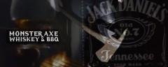 Барбекю, виски и топор. Monster axe, whiskey and BBQ)))